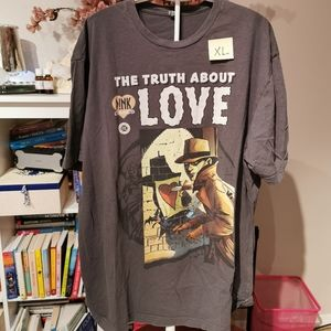 Mens Pink truth about love xl
